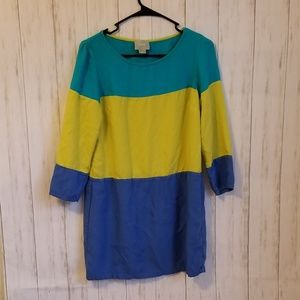 Anthropologie Maeve Colorblock Dress, size 10